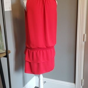 Amanda Uprichard smocked ruffle dress Small